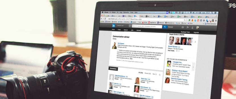Pc med LinkedIn profil